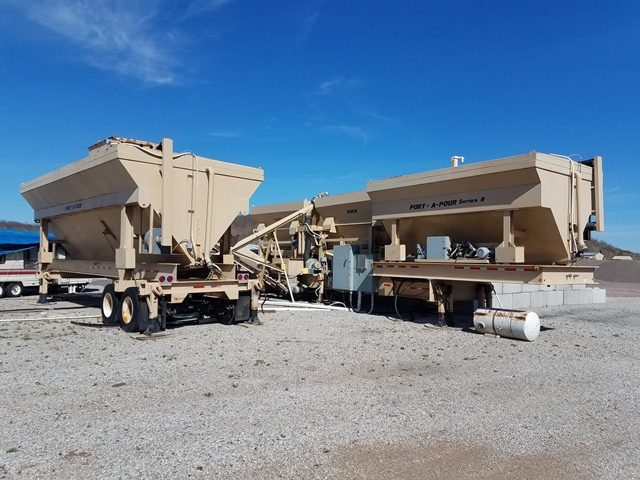 Used Port-A-Pour Series II Mobile Concrete Batching Plant For Sale