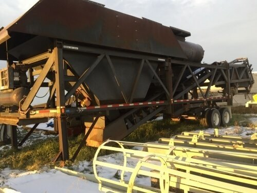 Used Ross Sidewinder Mobile Concrete Batching Plant